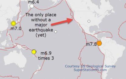 Earthquake Alerts : West Coast Quake Danger Today? This Week? Earthquakes rattle Japan, Ecuador, & Vanuatu – Again